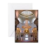 Sheikh Zayed Grand Mosque Men Greeting Cards (Pk o