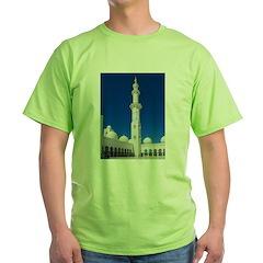 Sheikh Zayed Grand Mosque Min Green T-Shirt