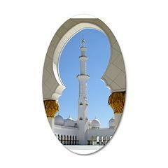 Sheikh Zayed Grand Mosque Pra 22x14 Oval Wall Peel