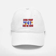 Cool 41 year old birthday design Baseball Baseball Cap