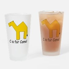 C is for Camel Drinking Glass