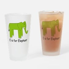 E is for Elephant Drinking Glass