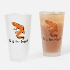 N is for Newt Drinking Glass