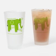 Elephant Facts Drinking Glass