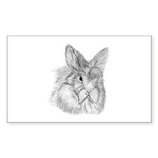 Fluffy Bunny Rectangle Decal