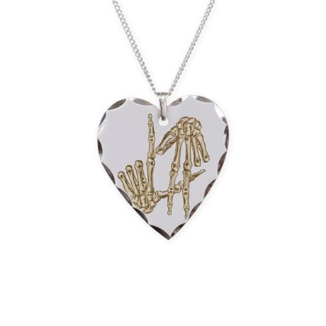 L.A to the Bone Los Angeles Necklace Heart Charm
