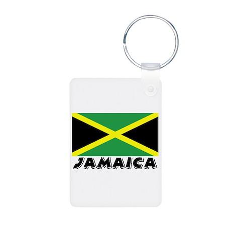 Jamaica Flag (World) Aluminum Photo Keychain