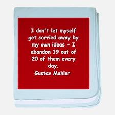 Gustav Mahler baby blanket
