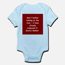 Gustav Mahler Infant Bodysuit