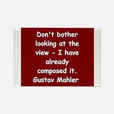 Gustav Mahler Rectangle Magnet