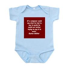 Gustav Mahler Infant Bodysuit