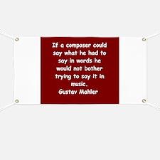 Gustav Mahler Banner