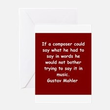 Gustav Mahler Greeting Card