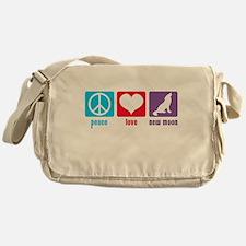 Peace Love New Moon Messenger Bag