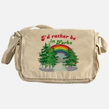 I'd Rather Be In Forks Messenger Bag