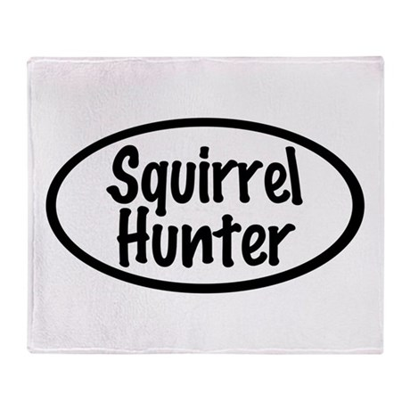 Squirrel Hunter Throw Blanket