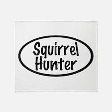 Squirrel Hunter Throw Blanket