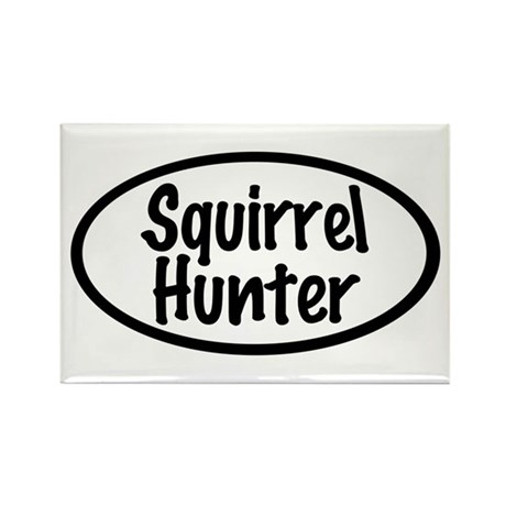 Squirrel Hunter Rectangle Magnet