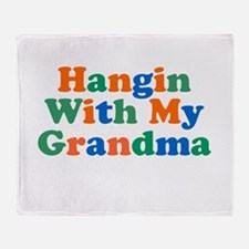 Hanging With My Grandma Throw Blanket
