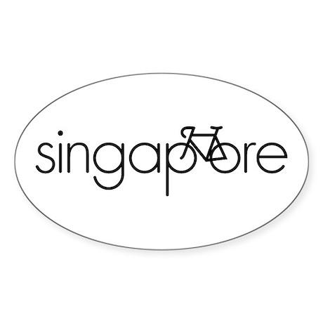 Bike Singapore Sticker (Oval)