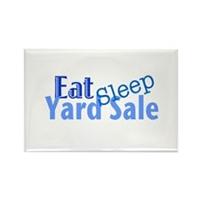 Eat Sleep Yard Sale Rectangle Magnet (10 pack)