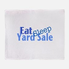 Eat Sleep Yard Sale Throw Blanket