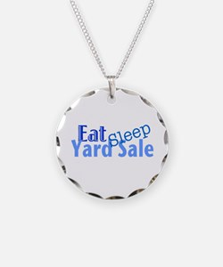 Eat Sleep Yard Sale Necklace