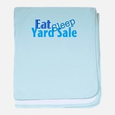 Eat Sleep Yard Sale baby blanket