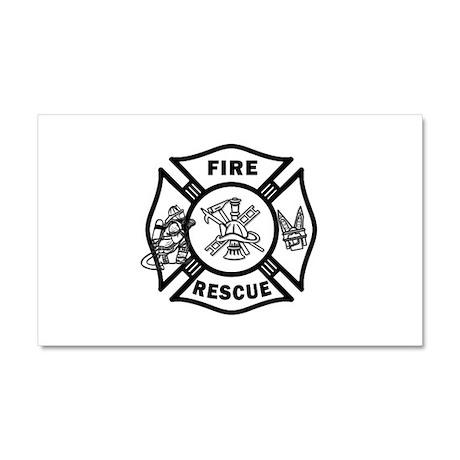 Fire Rescue Car Magnet 20 x 12