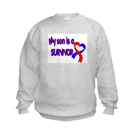 Son CHD Survivor Kids Sweatshirt