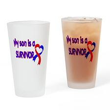 Son CHD Survivor Drinking Glass