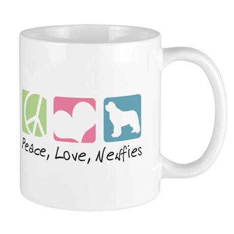 Peace, Love, Newfies Mug