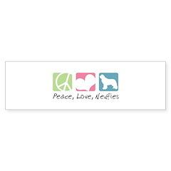 Peace, Love, Newfies Bumper Sticker