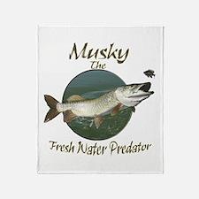 Musky,Fresh Water Predator Throw Blanket