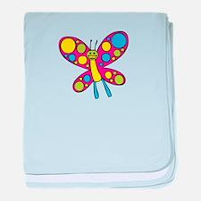 Happy Butterfly baby blanket