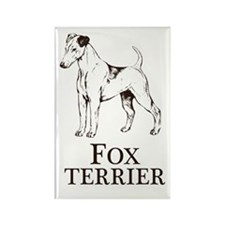 Fox Terrier Breed Type Rectangle Magnet