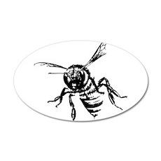 Bee 22x14 Oval Wall Peel