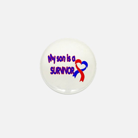 Son CHD Survivor Mini Button