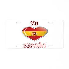 Cute Espana Aluminum License Plate