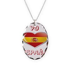 Unique Spain Necklace Oval Charm