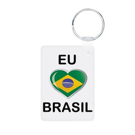 BRASIL Aluminum Photo Keychain