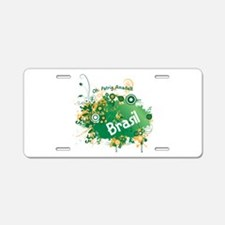 retro Brasil Aluminum License Plate