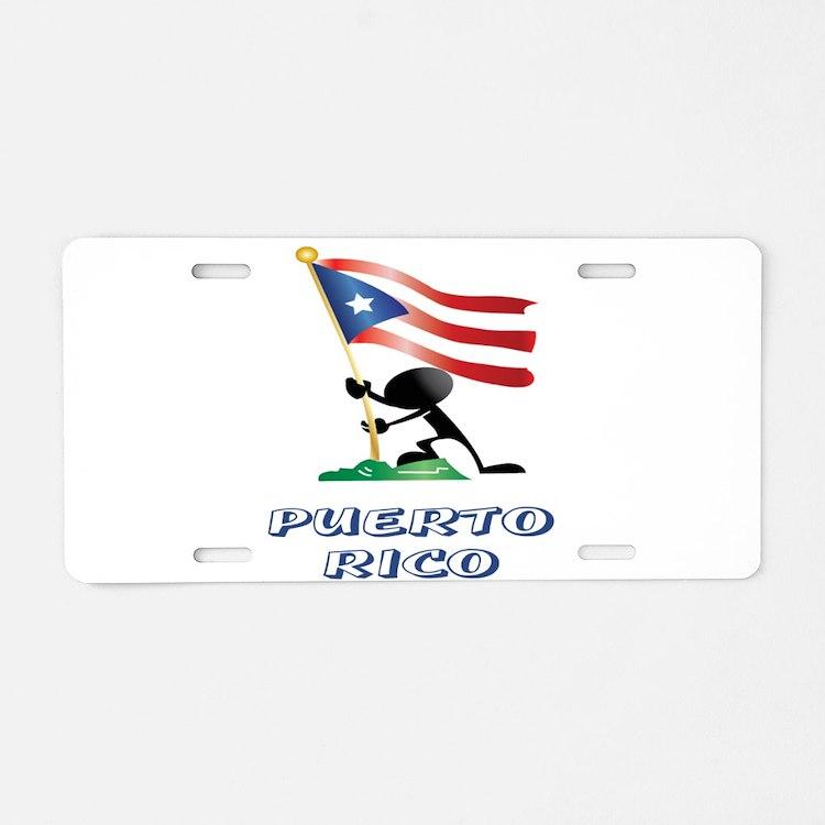 PUERTORICO Aluminum License Plate