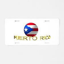 Cute Borinquen Aluminum License Plate