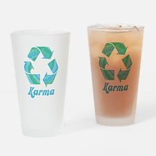 Recycle Karma Drinking Glass