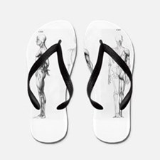 full body anatomy Flip Flops