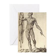 artistic body Greeting Card