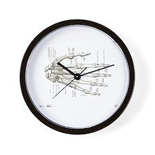 hand anatomy Wall Clock