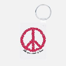 Hearts Peace Sign Keychains