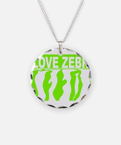 Cute Lime green zebra Necklace